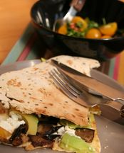Aubergine Quesadilla with Avocado & Feta recipe