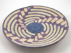 #0338 Handmade Southwest Style Decorative Coil Basket #Basket - love the colors and patterns