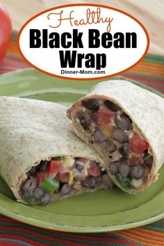 These Black Bean Wraps are ready FAST because there's no cooking involved! But, they don't sacrifice on taste! Just blend everything together and roll! Mexican Dinner Recipes, Easy Dinner Recipes, Kid Friendly Dinner, Kid Friendly Meals, One Pot Dinners, Appetizers, Appetizer Ideas, Vegetarian Dinners, Recipe For Mom