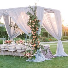 This is such a summer reception. The hanging vines are just lovely for the garden theme! Tent Wedding, Wedding Table, Wedding Reception, Mod Wedding, Bouquet Wedding, Wedding Bride, Ceremony Decorations, Table Decorations, Anemone Bouquet