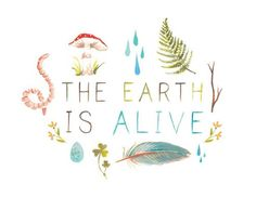 The Earth Is Alive  8x10 print by thewheatfield on Etsy, $18.00