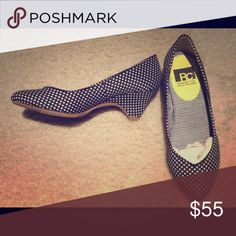 Polka dot heels. BC heels have never been worn (dots are pale pink, extra heel caps included. Please see suggested bundle. BC Footwear Shoes Heels