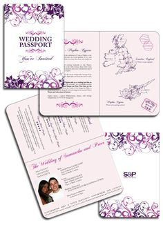 Fl Inspired Pport Invitation Created For A Getting Married In Cyprus By Destinationstationery