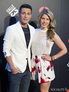 Colton Haynes And Emily Bett Rickards Promote 'Arrow' Together In Madrid