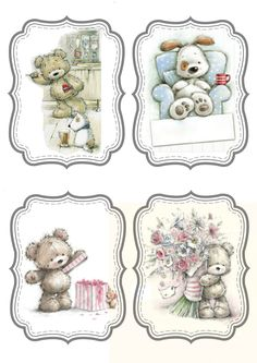 Tatty Teddy, Bear Pictures, Print Pictures, Blue Nose Friends, Printable Pictures, 3d Cards, Cute Images, Journal Cards, Cute Cartoon