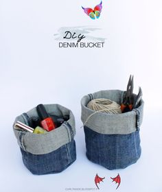 Denim Crafts - Easy Sewing Projects - Cute Carry All and Basket Made From Old Jeans <a class=pintag href=/explore/crafts/ title=#crafts explore Pinterest>#crafts</a> <a class=pintag href=/explore/sewingprojects/ title=#sewingprojects explore Pinterest>#sewingprojects</a> <a class=pintag href=/explore/diyideas/ title=#diyideas explore Pinterest>#diyideas</a> Denim Crafts - Easy Sewing Projects - Cute Carry All and Basket Made From Old Jeans #crafts #sewingprojects #diyideas Diy Sewing Projects, Sewing Projects For Beginners, Sewing Tutorials, Sewing Hacks, Sewing Tips, Diy Denim, Denim Crafts, Blue Jeans, Fat Quarter Projects