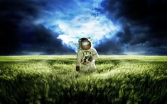 Green Astronaut Space Wallpapers