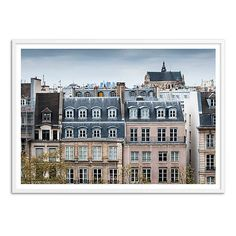 Paris Rooftops I Photographs (2.565 DKK) ❤ liked on Polyvore featuring home, home decor, wall art, backgrounds, parisian home decor, white home decor, white framed wall art, framed wall art and parisian wall art