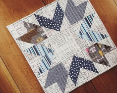 Mini quilt from @canoeridgecreations fresh mini quilt club I think the these would be fabulous quilt blocks.