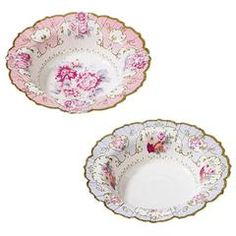 Tea Party Floral Bowls for a Tea Party Birthday!!!