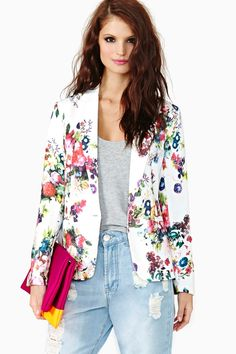 Fresh Bloom Blazer #NastyGal