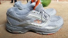 Reebok Superflex Womens Size 7.5 W Vintage Walking Shoes Gray Orange  Sneakers 9d31f0e7a