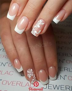 70 Hottest French Nails Design Inspirations in 2019 - Soflyme - 80 Hottest Fre. 70 Hottest French Nails Design Inspirations in 2019 - Soflyme - 80 Hottest French nails Inspirations in French manicure have always been the first choice for - French Acrylic Nails, French Manicure Nails, French Manicure Designs, French Nail Art, French Tip Nails, Nail Art Designs, Nails Design, Short French Nails, French Salon