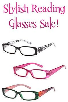 a93edb33afc Stylish Reading Glasses Sale! 3 for  9.95 or 6 pairs for  16.95! Stylish  Reading