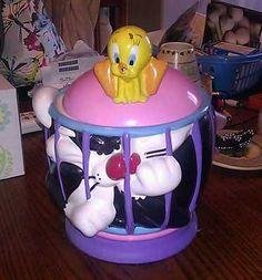 Sylvester and tweety cookie jar
