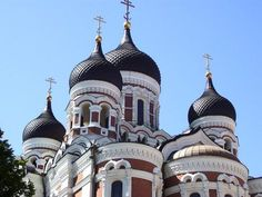 Typical Russian Onion Domes Photo - Alexander Nevsky Cathedral, Tallinn, Estonia