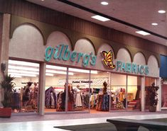 Storefront of Gilberg's Fabrics in the Northwood Mall on opening day - Tallahassee, Florida