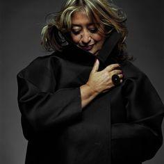 the iconic zaha hadid, one of my favorite contemporary architects. ..Zaha Hadid apre a Londra la sua galleria-negozio - PambiancoNews