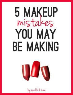 Common Makeup Mistakes You May Be Making Right Now- this is a really helpful guide that gives solutions to all your biggest beauty blunders. I wish I would have seen this years ago! Great pin!!