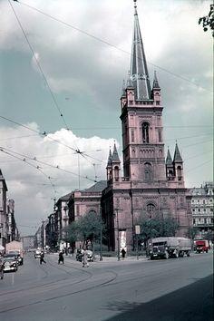 Berlin 1938 Jerusalemerkirche Kochstrasse Ecke Lindenstrasse