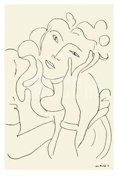 La Fleur Serigraph by Henri Matisse
