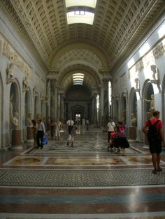Inside the halls of the beautiful Accademia di Belle Arti di Firenze in Florence.