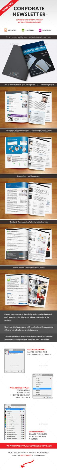 Rite Business Newsletter Print templates, Newsletter templates - business newsletter