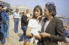 Cannes Film Festival 1974 Jane Birkin and Serge Gainsbourg Serge Gainsbourg, Gainsbourg Birkin, Isabelle Adjani, Charlotte Rampling, Ava Gardner, Jane Birkin, English Actresses, British Actresses, Brigitte Bardot