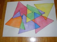 Geometry: Identify and Describe Shapes/Language: Conventions of Standard English Capitalization, Punctuation and Spelling When Writing Geometry Art, Geometry Tattoo, Sacred Geometry, Kindergarten Art Lessons, Triangle Art, 4th Grade Art, Math Art, Shape Art, Elementary Art