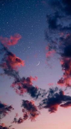 Beautiful night sky iphone wallpaper , iphone background ,phone wallpaper , evening sky, evening sky with crescent moon and stars Tumblr Wallpaper, Night Sky Wallpaper, Cloud Wallpaper, Iphone Background Wallpaper, Scenery Wallpaper, Nature Wallpaper, Galaxy Wallpaper, Sunset Wallpaper, Iphone Background Vintage