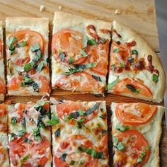 This Margherita Pizza is made with all fresh ingredients and is low in fat and calories.