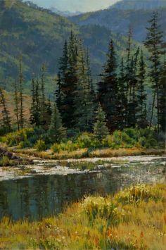 Gore Creek Spring Sparkle || Darcie Peet, 30 x 20 - Oil