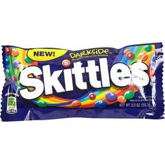 River Island Skittles darkside candy (€1,82) ❤ liked on Polyvore featuring food, food and drink, fillers, candy, comida, saying, sale, quotes, phrase and text