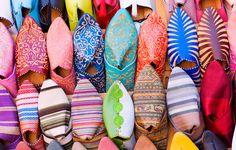 shoes in a morocco market  #JetsetterCurator