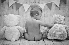 six month old posing, stuffed animals Amber Yanovich Photography | Jackson, MI