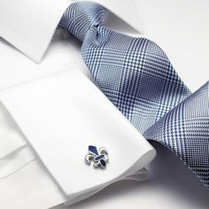 Blue houndstooth Prince of Wales check woven slim tie | Men's woven silk ties from Charles Tyrwhitt | CTShirts.com