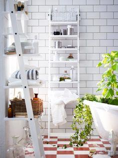 Smart förvaring med HJÄLMAREN hylla. Till badrummet?