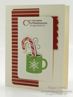 minty cocoa christmas card using scentsational season stamp set and coordinating framelits.