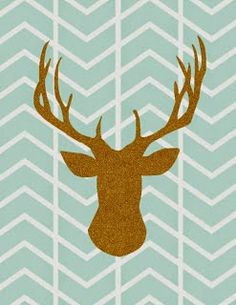 deer head herringbone: free printable {Carissa Miss for Sugar Bee Crafts} Free Christmas Printables, Free Printables, Printable Animals, Gold Home Decor, Animal Silhouette, Bee Crafts, Easy Crafts, Illustration, Silhouette Projects