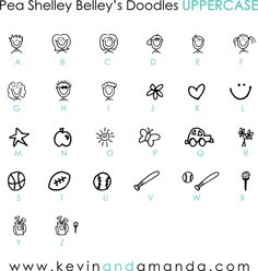 Pea Shelley Belley's Doodles uppercase Font