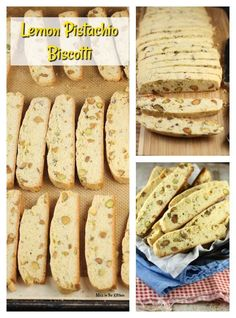 Lemon Pistachio Biscotti is the perfect crunchy treat to enjoy with your morning coffee. My favorite cookies to bake and share! Biscotti has become the favorite cookie at our house and I'm loving every new version Pistachio Biscotti, Pistachio Cookies, Biscotti Cookies, Biscotti Recipe, Cake Cookies, Cupcakes, Best Dessert Recipes, Just Desserts, Sweet Recipes