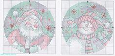 Santa & Snowmen Ornaments, charts, page 4/5