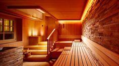 Hamburg sauna. Warm lightning and great details