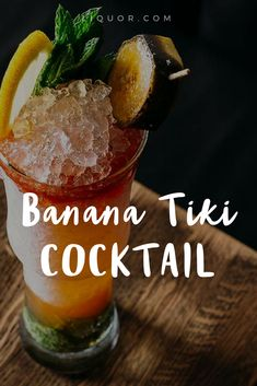 This #banana #cocktail looks amazing and tastes even better