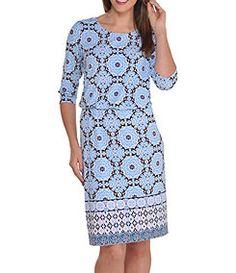 Peter Nygard Chemise Printed Jersey Dress