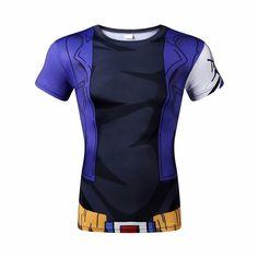 Dragon Ball Z Men and Women tight short sleeve T-shirt