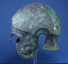 Bronze helmet of `Chalcidian' type.