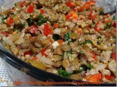 Receita Prato Principal : Salada de lentilha e quinoa de Carina Fagiani