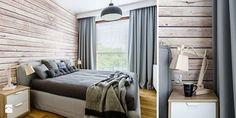 Drewno na ścianie w sypialni? Uwielbiamy takie rozwiązania inspirowane naturą <3 Zdjęcie: http://www.homebook.pl/inspiracje/sypialnia/195986_sypialnia-sypialnia-styl-industrialny