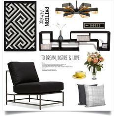 Untitled #31 by ngachel on Polyvore featuring polyvore interior interiors interior design home home decor interior decorating Jesper Office Crystorama Nearly Natural Spicher and Company